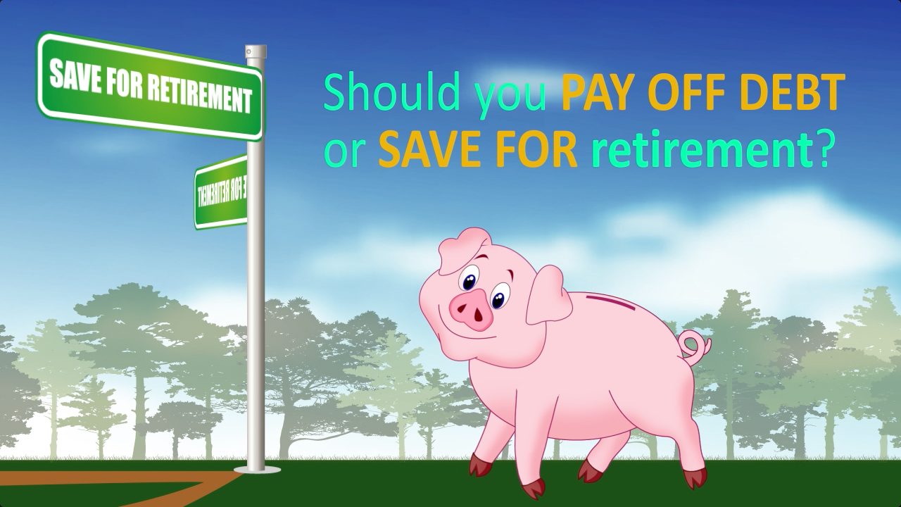 thumbnail of video - Should You Pay Off Debt or Save for Retirement?