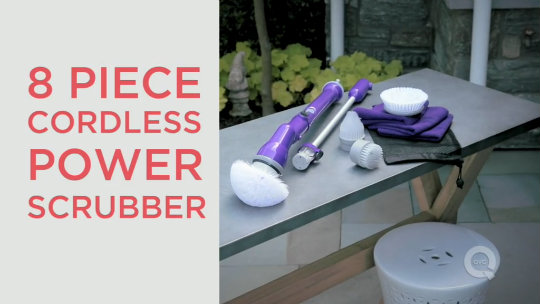 8 Pc Cordless Indoor/Outdoor Power Scrubber, Extension Tool U0026 Accessories    Page 1 U2014 QVC.com