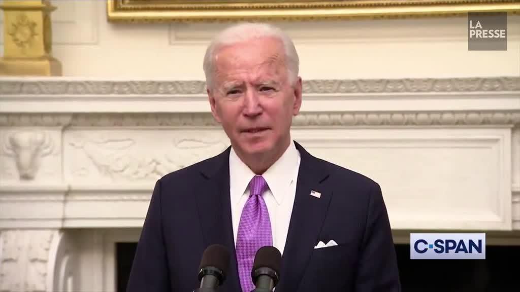 Joe Biden promet une mobilisation comme « en temps de guerre »