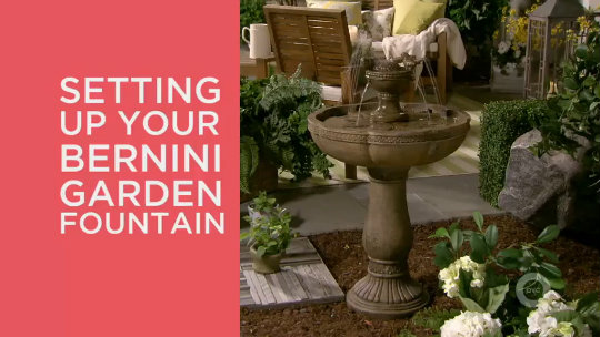 Bernini Dancing Waters Rechargeable Fountain - Page 1 — QVC.com