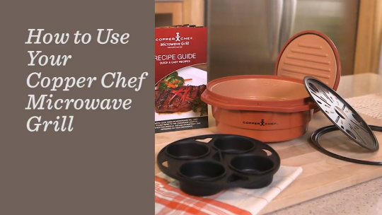 Copper Chef Microwave Grill With Press Lid And Accessories Page 1 Qvc