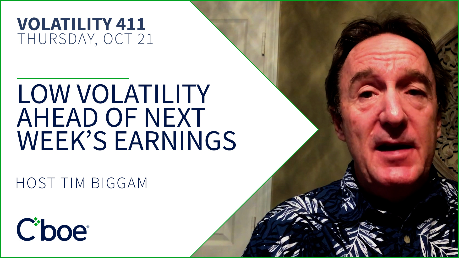 Low Volatility Ahead of Next Week's Earnings Thumbnail