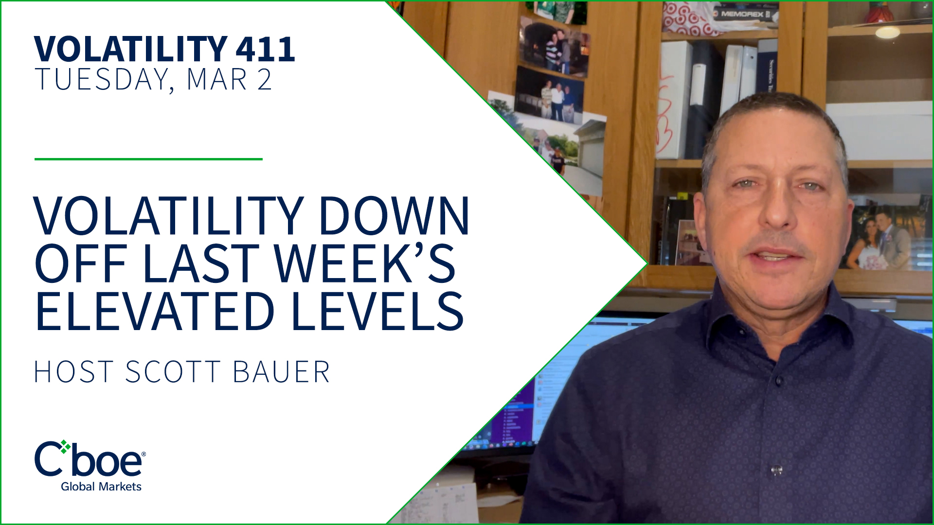 Volatility Down Off Last Week's Elevated Levels Thumbnail