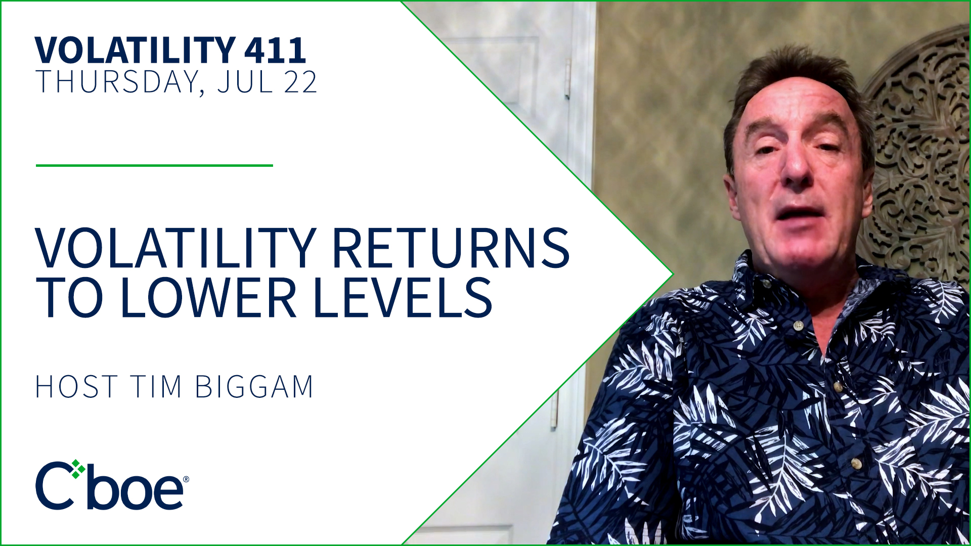 Volatility Returns to Lower Levels Thumbnail
