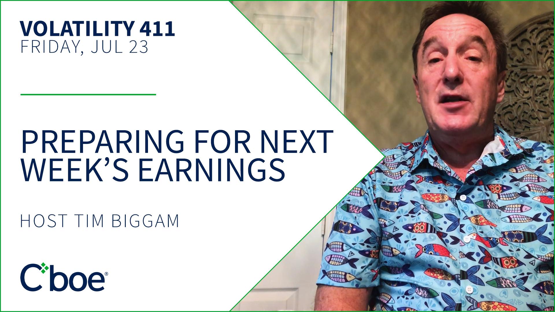 Preparing For Next Week's Earnings Thumbnail
