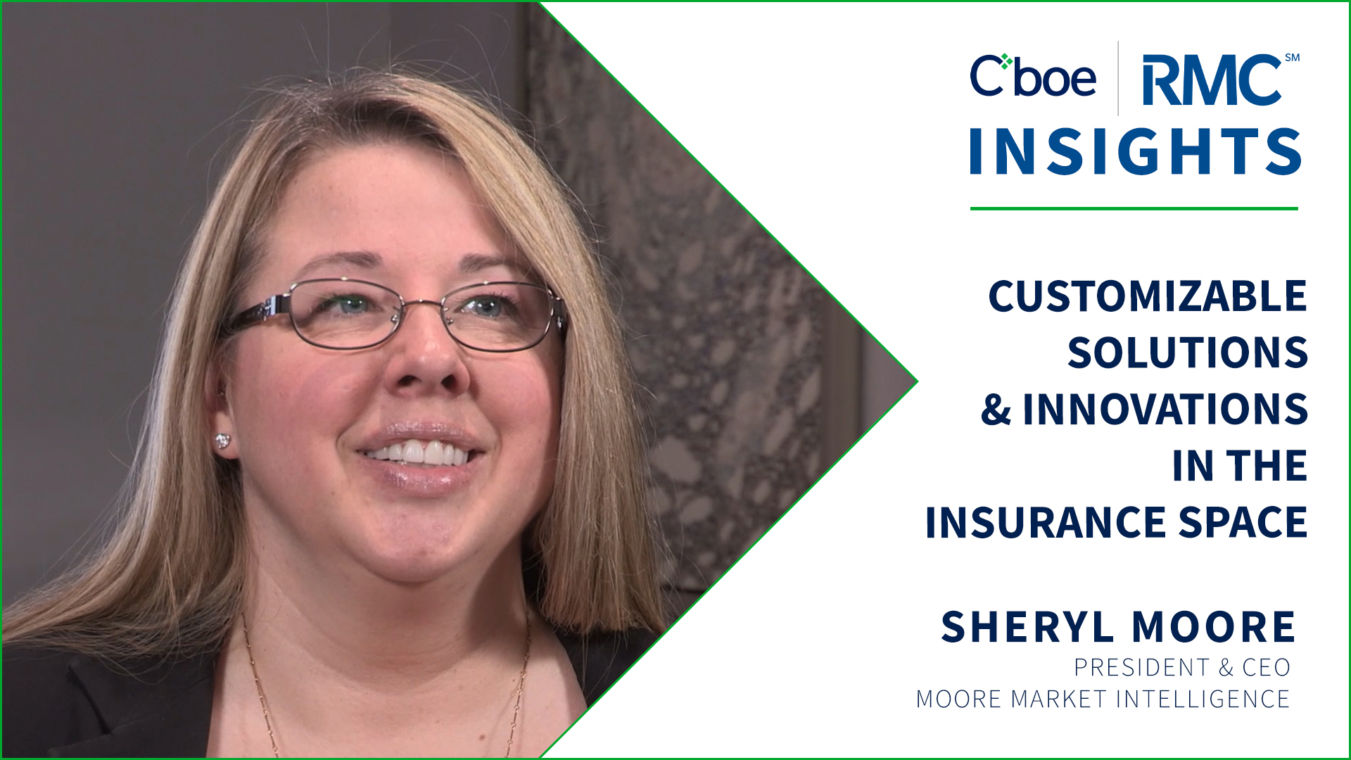Customizable Solutions & Innovations in the Insurance Space | Sheryl Moore | RMC Insights Thumbnail