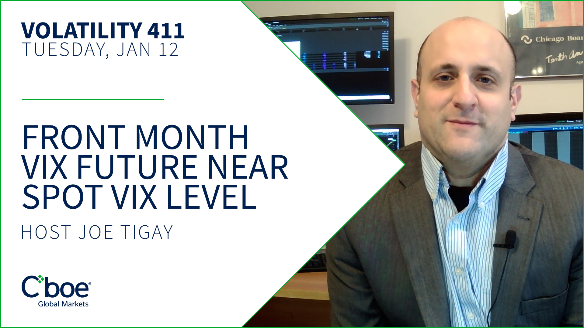 Front Month VIX Future Near Spot VIX Level Thumbnail