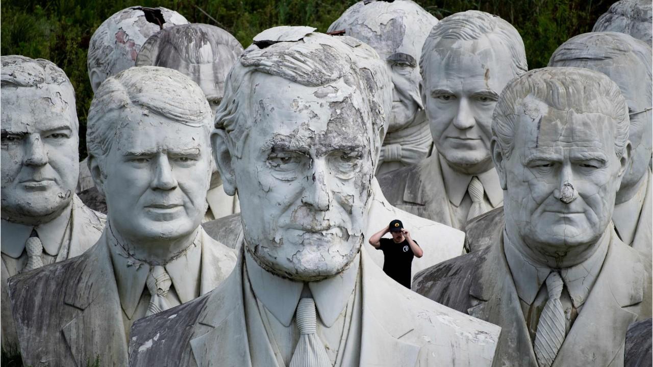 Quarante-deux bustes de présidents américains laissés à l'abandon
